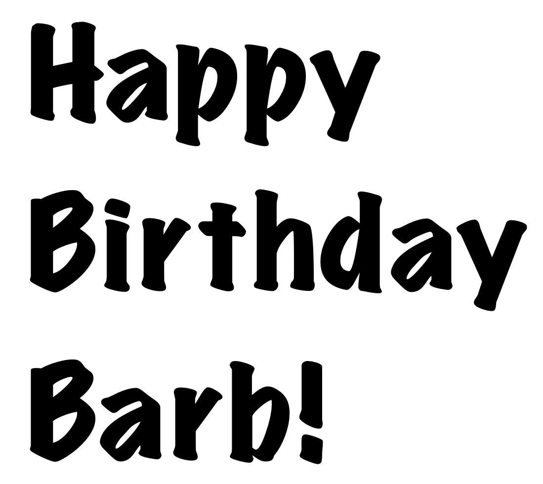 Happy Birthday Barb – The Karaoke Concert!